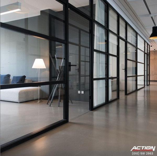 aluminium front door with glass